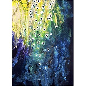 Posterlounge Hartschaumbild 30 x 40 cm: Blumen und Wasserfall nach Klimt von Tara Thelen/Design Pics
