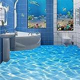 Mznm Kostenloser Versand moderne Custom 3d-Fußboden fliesen rutschig Badezimmer Wasserdicht PVC-Folie selbstklebend Wallpaper 350 X 250 cm verhindern