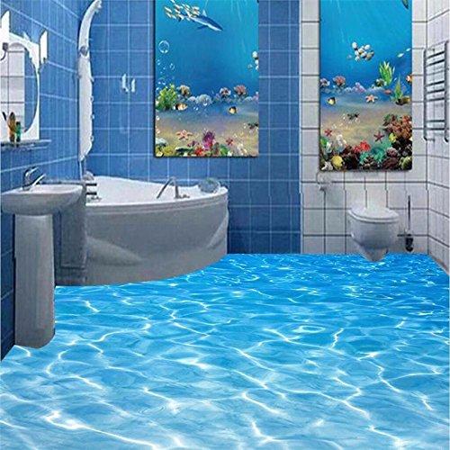 Pvc-decken-fliesen (Mznm Kostenloser Versand moderne Custom 3d-Fußboden fliesen rutschig Badezimmer Wasserdicht PVC-Folie selbstklebend Wallpaper 120 X 100 cm verhindern)