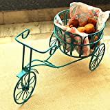 MIB Tricycle Snack Serving Trolley with Movable Wheels (Blue)