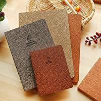 Notebooks - 12 Constellation kawaii Small Notebook Bare Back Leather Face Book Simple office & school supplies stationery for school gifts (Brown)