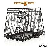 COZY PET Deluxe Car Dog Cage, Fits: Audi, BMW, Fiat, Ford, Hyundai, Jaguar, Kia, Range Rover, Mercedes-Benz, Mini, Nissan, Peugeot, Seat, Toyota, Vauxhall, Volkswagen, Volvo, Etc Puppy Crate: CDC01