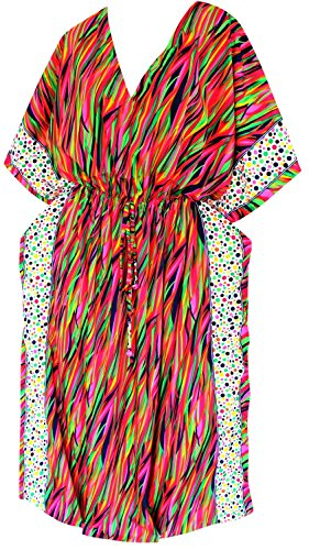 Kaftan besonders luftig V-Ausschnitt verschleiern Länge maxi Kleid Robe Kappenhülse Strand (Roben Knöchel Länge)