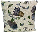 Kissenhülle Gobelin Gobelinkissen mediterran Kissen Hüllen 40x40 cm Wendekissen Provence (Lavender Beige Bunt)