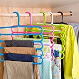 #7: Perfect Life Ideas 5 Pcs Multipurpose 5 Layer Hanger