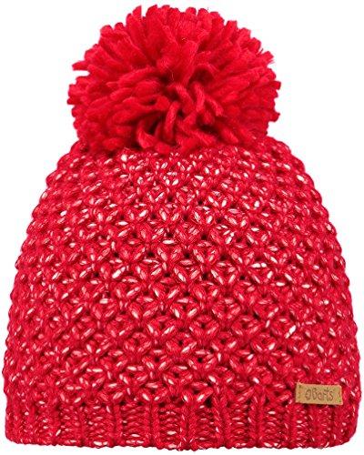 Barts Unisex Baby Baskenmütze Cers, Rot (Capsicum), 51/53 (Herstellergröße: 53) (Mädchen Rib Knit Cap)