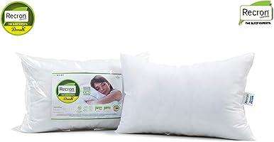 Recron Certified Dream Fibre Pillow - 40 x 61 cm, White, 2 Piece