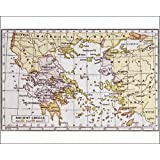 Photographic Print Of Map Of Ancient Greece