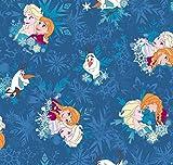 Disney Frozen Kinderteppich blau 133cm x 95cm Die Eiskönigin Anna Elsa Olaf Sven
