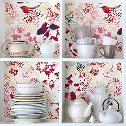 carta-adesiva-per-mobili-fancy-birds-floral-pattern-with-birds-pellicola-adesiva-pellicola-plotter-p