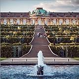 Poster 13 x 13 cm: Potsdam - Schloss Sanssouci von
