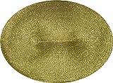 Tischset Platzmatte Gold Weihnachten oval Platzset 45x 33 cm