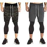 Veirdo Cotton Shorts for Men - Pack of 2