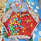 Tupfen-Muster-faltbares Baby scherzt Spiel-Haus-Zelt-Basketball-Zelt-Kinderaußen- u. Innensport-Spiel-Spielwaren, Mehrfarben