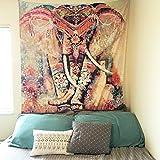 Amkun indische Mandala Hippie-Bohemian Wandteppiche, mit Art-Nature-Deko, als Tischdecke, für Wohnzimmer, Schlafzimmer, Wohnheim, als Strandtuch, Yoga Matte Orange