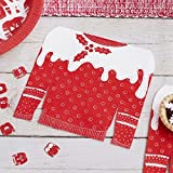 Cosy Christmas - Red and White Festive Jumper Napkins