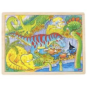 GOKI maderaPuzzles de maderaGOKIDinosaurio, Puzzle, Multicolor (1)