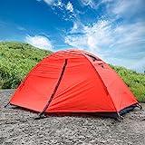 WolfWise Tenda Leggera Impermeabile per 1 Persone Tenda Pieghevole Antivento per Campeggio Escursionismo Fare Attività all' Aperto