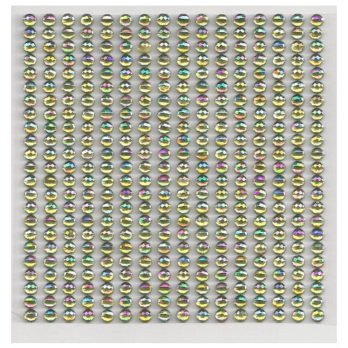 16 Bordüren mit 23 selbstklebenden Glitzersteinen gold irisierend ca. 4 mm