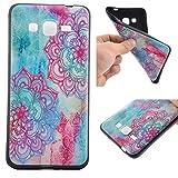 Voguecase® Para Samsung Galaxy Grand Prime G530, TPU Funda de Silicona de Gel Carcasa Tapa Case Cover (negro-Alfombra de color 01) + Gratis aguja de la pantalla stylus universales