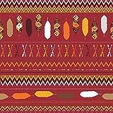 Stay Wild CHEVRON herbsrot- Baumwoll-Jersey - ÖKOTEX - Nähstoffreich exclusiv 50cm*155cm