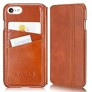 20d93057c5c63 KAVAJ Lederhülle Dallas geeignet für Apple iPhone 8 iPhone 7 Tasche Leder  Cognac-Braun Ledertasche