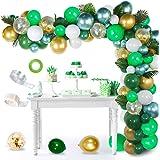 AYUQI Selva cumpleaños Decoracion Kit de Guirnalda de Globos Arch, 114 Piezas Birthday Supply Feliz Cumpleaños con Globo Verd