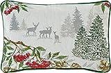 Sander Weihnachten Gobelin Motiv Winter Forest Kissen gefüllt 32 x 48 cm