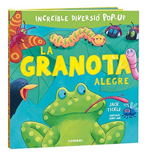 Un títol de la col·lecció «Llibres del tat». Entre els pop-ups de La granota alegre hi descobrirem els animalons que viuen al jardí.