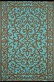 Green Decore - Gala Indoor Outdoor/Gewicht/Reversible/Polypropylen Kunststoff Teppich, plastik, Turquoise/Gold, 150 x 240 cm