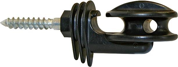 AKO 10x Eckisolator für Weidezaunseil, Litze und Draht - Extrem stabil durch durchgehende 8 mm Stütze - Sehr vielseitig einsetzbar - Kein Abrutschen des Leiters möglich
