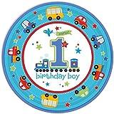 Amscan 8 Teller * Birthday Boy * für Den Ersten Geburtstag // Kindergeburtstag Jungen
