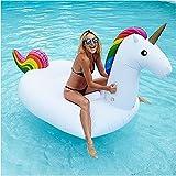 Close Up® Riesen Einhorn Schwimminsel, 250x110x110cm - aufblasbare XXL Luftmatratze