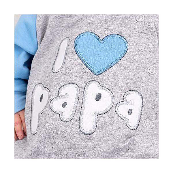"""Baby Sweets – Mono de bebé con capucha en diseño """"I Love Papa"""", como ropa de bebé para niñas & niños/mono para bebé como pelele para recién nacidos & niños pequeños diferentes tamaños 5"""