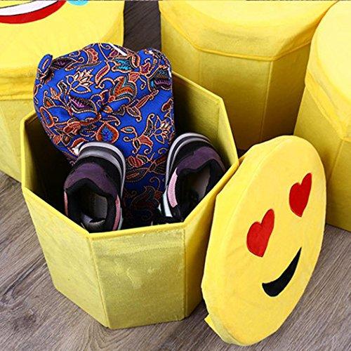 "Sunwords Emoji bebé juguetes caja de almacenaje plegable organizador para asiento, tela, 1#, 11.02"" x 11.81"""
