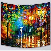 Arazzo Dipinto ad Olio, Camera da Letto Tarpaulin - Tappeto Tavolo Tenda da Pranzo Colore Decorazione della Parete Panno Appeso a Parete