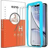 Eono by Amazon [3 Piezas] Cristal Templado para iPhone 12/iPhone 12 Pro/iPhone XR/iPhone 11 Protector Pantalla, Sin Burbujas,