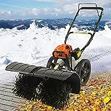 Benzin Kehrmaschine 3 PS Elektrostarter Schneeschieber Motorbesen Schneepflug Schneefräse