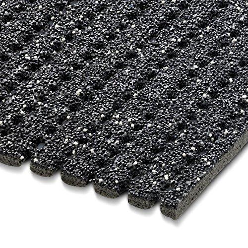 etm® Sicherheitsmatte gegen Glätte | Anthrazit | rutschfeste Granulat Beschichtung | deutsches Qualitätsprodukt | 120 cm Breite | 1,5 m Länge