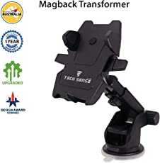 Tech Sense Lab Car Mobile Phone Holder(2018) with One Touch 360 Degree Rotating for Dashboard/Windshield, for all Smartphones(Black)