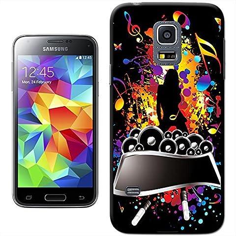 Divertimento con musica Custodia rigida per modelli Samsung, PLASTICA, Rock Superstar, Samsung Galaxy S5 Mini