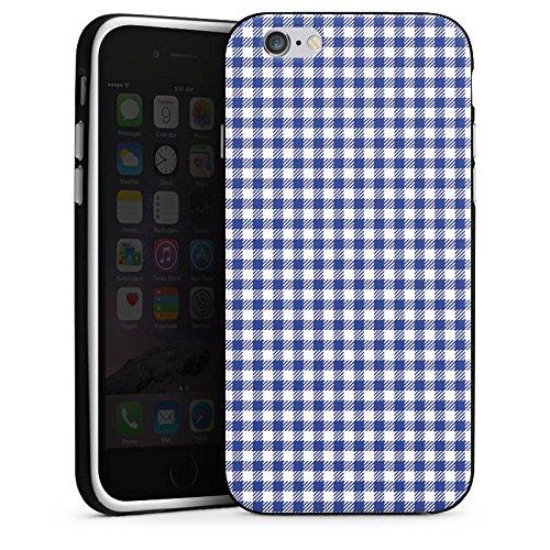 Apple iPhone 5s Housse Étui Protection Coque Carreau Pique-nique Fête de la bière Housse en silicone noir / blanc