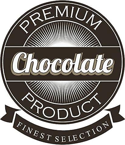 Premium Chocolate Product Finest Selection De Haute Qualite Pare-Chocs Automobiles Autocollant 10 x 12 cm