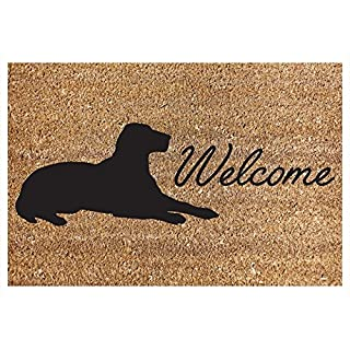 Door Mat Coir Heavy Duty House Home Welcome 40X60CM Dog Design Carpet Rug