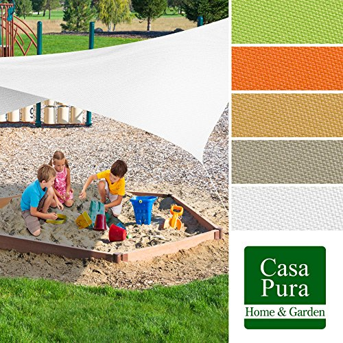 Voile d'ombrage casa pura® triangulaire en coloris divers | matière imperméable - lavable en machine | taille 5x5x5m | densité 160g par m² | sable