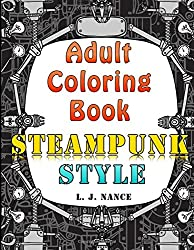 Adult Coloring Book - Steampunk Style