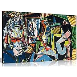 Pablo Picasso Les Femmes D 'Alger Leinwand Art Wand Bild Kunstdruck, A1 76x51 cm (30x20in)