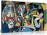 Pablo Picasso Pintura les femmes d 'alger lienzo pared Art imagen impresión, A2 61x41 cm (24x16in)