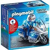 PLAYMOBIL 6876 Policía en moto con luz LED