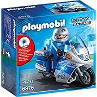 Playmobil City Action 6876 Police Patrouille avec Motocycle